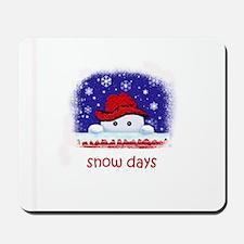 snow days Mousepad
