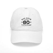 Funny 80th Birthday Baseball Cap