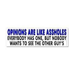 Opinions are like - Car Magnet 10 x 3