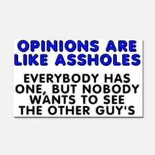 Opinions are like - Car Magnet 20 x 12