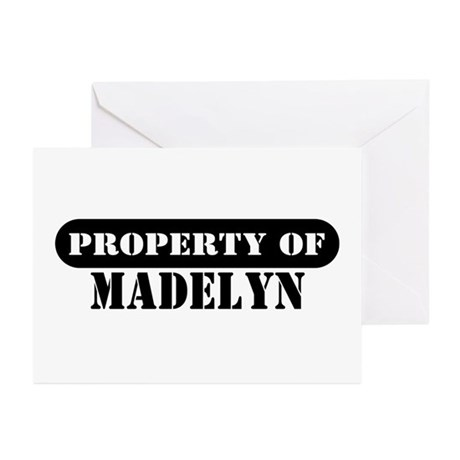Property of Madelyn Greeting Cards (Pk of 10)