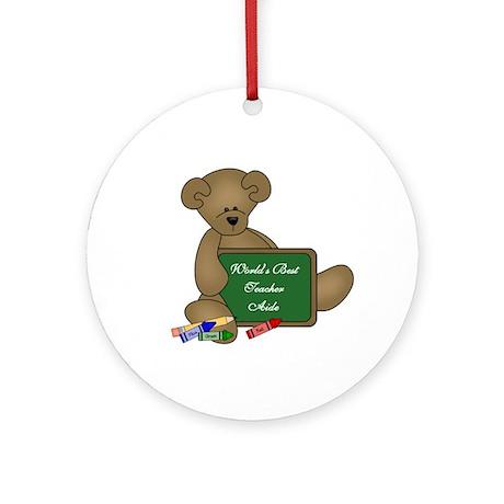 World's Best Teacher Aide Ornament (Round)