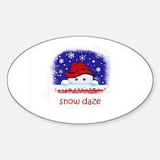 snow daze Oval Decal