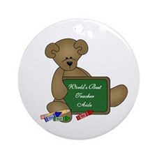 World's Best Teacher Aide Ornament (Round)