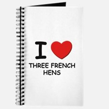 I love three french hens Journal