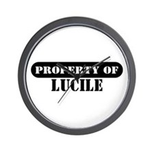 Property of Lucile Wall Clock