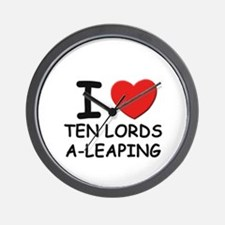 I love ten lords a-leaping Wall Clock