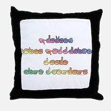 Pastel PREVENT NOISE POLLUTION Throw Pillow