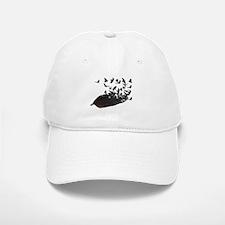 Flying Crow Feather Baseball Baseball Cap
