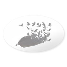 Flying Crow Feather Decal