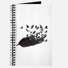 Flying Crow Feather Journal