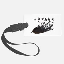 Flying Crow Feather Luggage Tag