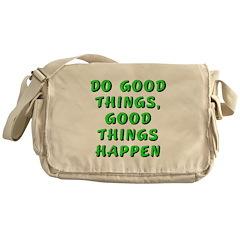 Do good things - Messenger Bag