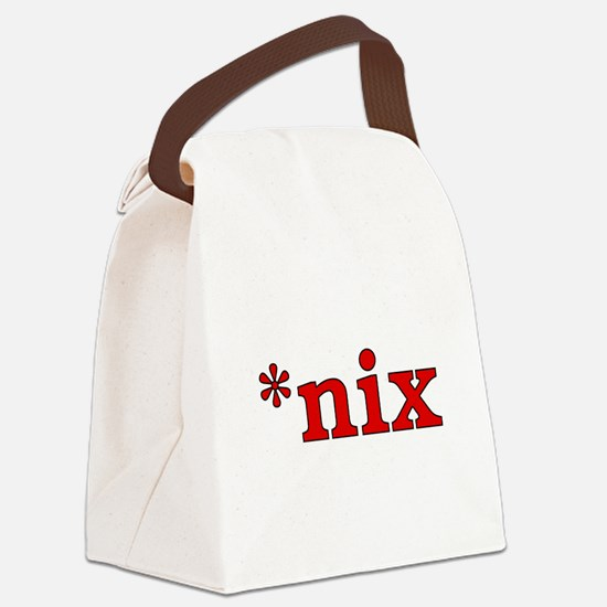 *nix Canvas Lunch Bag