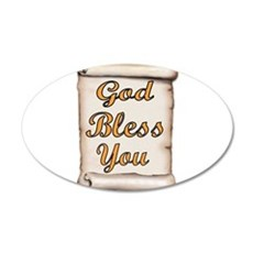 GOD BLESS YOU Wall Decal