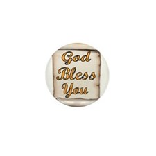 GOD BLESS YOU Mini Button (10 pack)