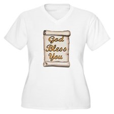 GOD BLESS YOU Plus Size T-Shirt