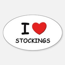 I love stockings Oval Decal