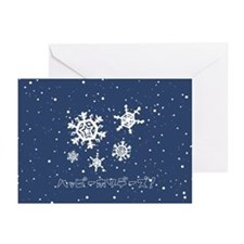 SnowFlakes  Greeting Cards (Pk of 10)