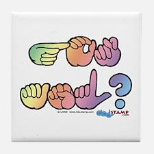 Pastel GOT ASL? Tile Coaster