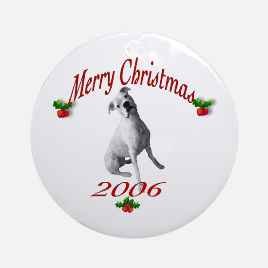 White Boxer Body Ornament (Round)