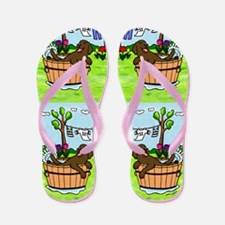 Chocolate Labrador Bathing Flip Flops