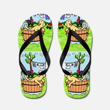 Yellow Labrador Bathing Flip Flops