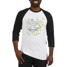 Gandhi Vine - Be the change - Blue & Green Basebal