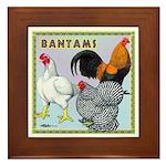 Bantam Chickens Framed Tile