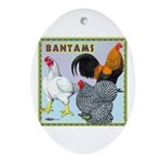 Bantam Chickens Oval Ornament