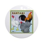 Bantam Chickens Ornament (Round)