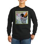 Bantam Chickens Long Sleeve Dark T-Shirt