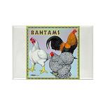 Bantam Chickens Rectangle Magnet
