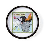 Bantam Chickens Wall Clock