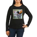 Bantam Chickens Women's Long Sleeve Dark T-Shirt