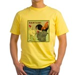 Bantam Chickens Yellow T-Shirt