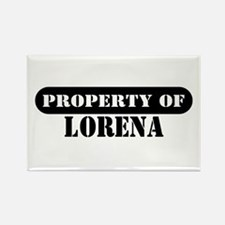 Property of Lorena Rectangle Magnet