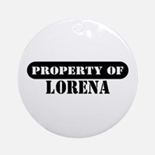 Property of Lorena Ornament (Round)