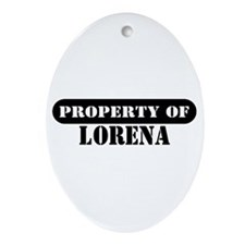 Property of Lorena Oval Ornament