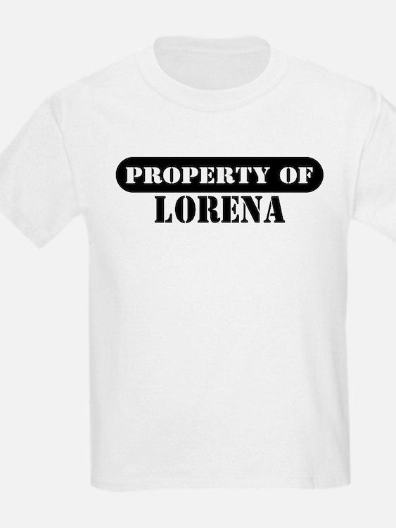 Property of Lorena Kids T-Shirt
