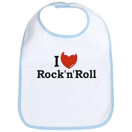 I Love Rock n Roll Bib