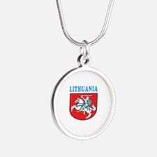Lithuania Coat Of Arms Designs Silver Round Neckla