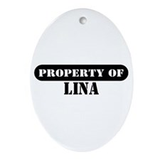 Property of Lina Oval Ornament