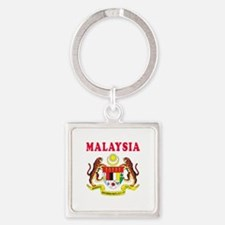 Malaysia Coat Of Arms Designs Square Keychain