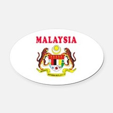 Malaysia Coat Of Arms Designs Oval Car Magnet