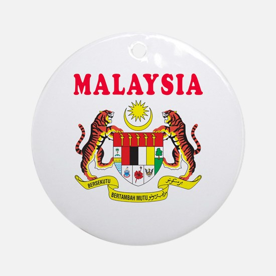 Malaysia Coat Of Arms Designs Ornament (Round)