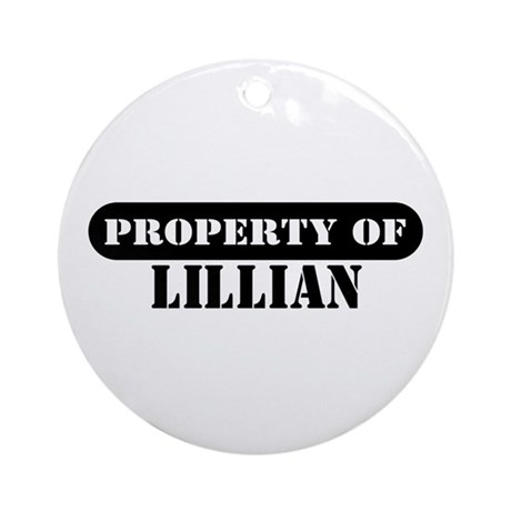Property of Lillian Ornament (Round)