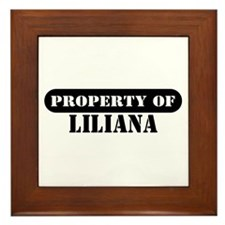 Property of Liliana Framed Tile