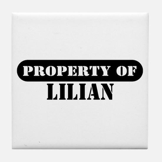 Property of Lilian Tile Coaster