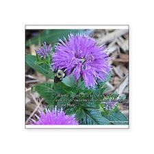 As a Bee Handles a Flower Sticker